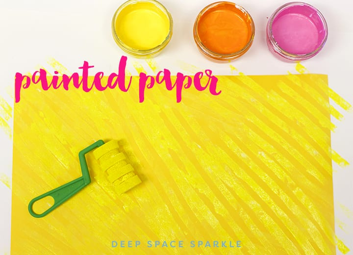 Spring Daffodil Art Projects for Kids: How to Make painted paper
