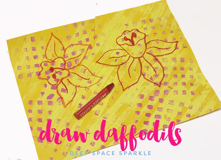 Spring Daffodil Art Projects for Kids: How to Draw a Daffodil