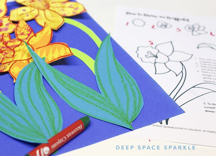 Spring Daffodil Art Projects for Kids: How to cut out daffodil