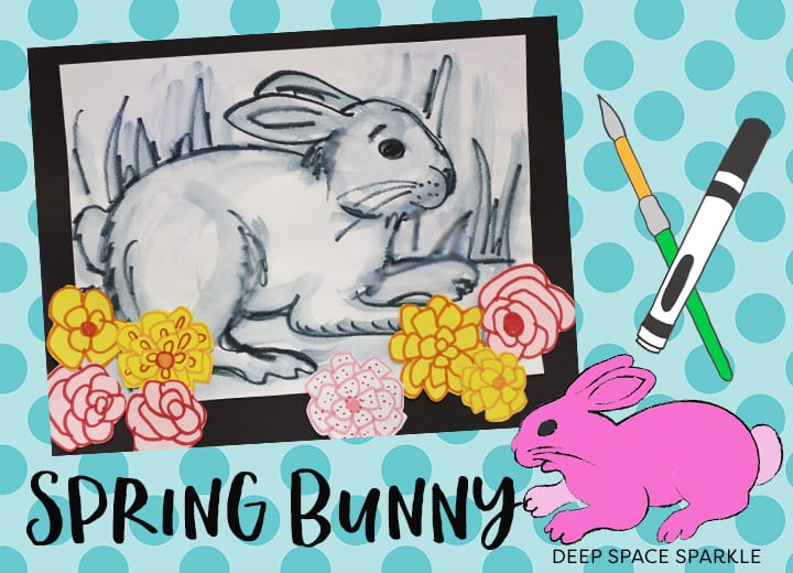 Spring Bunny Art Project Deep Space Sparkle