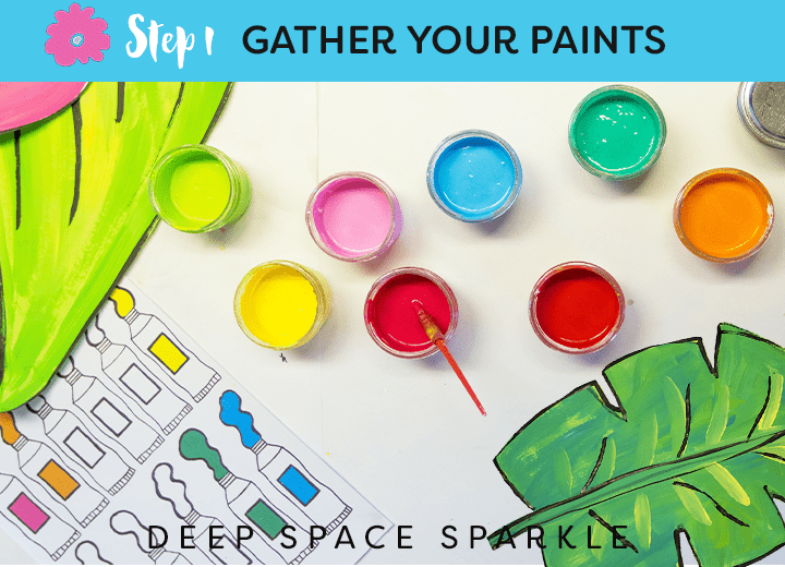 How to draw & paint large-scale tropical flowers and leaves from Deep Space Sparkle