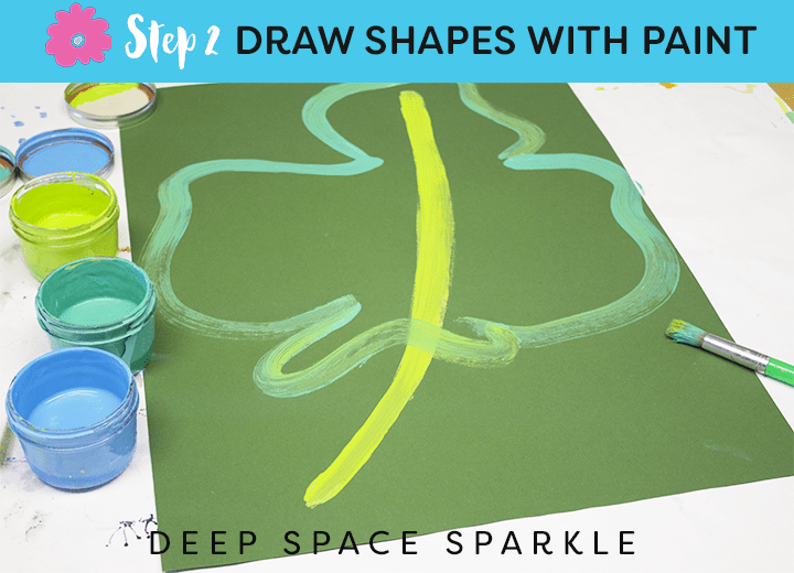 How to draw & paint large-scale tropical flowers and leaves from Deep Space Sparkle STEP 2