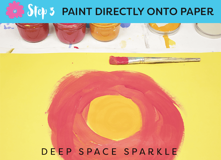 How to draw & paint large-scale tropical flowers and leaves from Deep Space Sparkle STEP 3