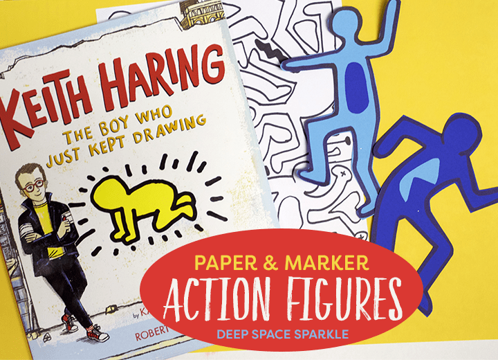 Haring Action Figures -Learn how to draw and cut action figures on paper