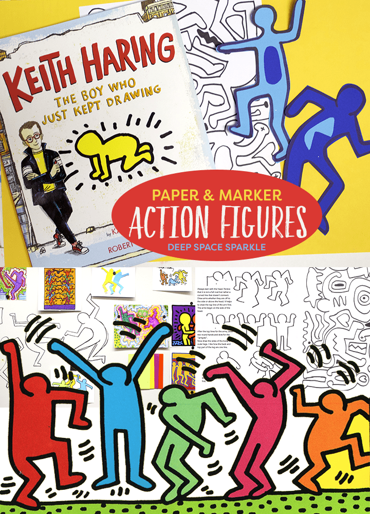 Haring Action Figures Art Project