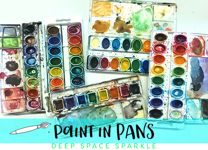 Paint in pans- what to do with leftover paint