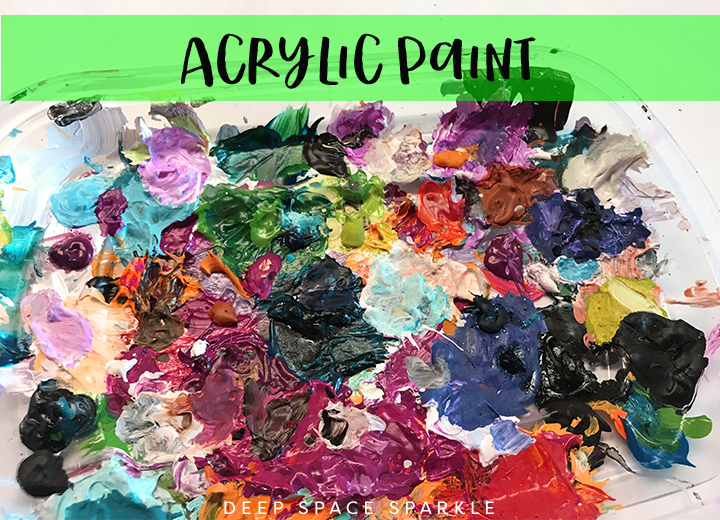 Acrylic paint- what to do with left over paint
