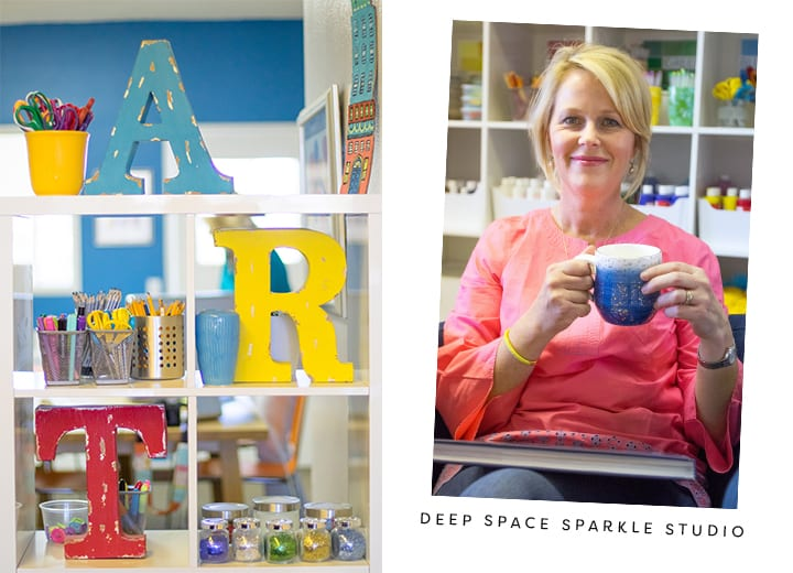 Take look at what the Deep Space Sparkle headquarters looks like and how Patty organizes her space.
