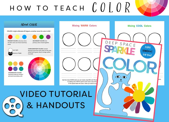 how to teach kids to use color in art making: Art Curriculum Techniques by Deep Space Sparkle