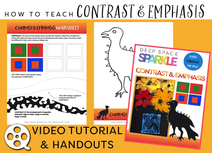 how to teach Contrast Emphasis: Video Series from Deep Space Sparkle