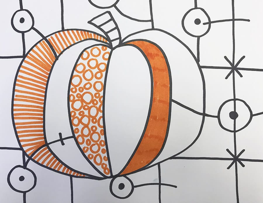 Britto Pumpkin Drawing: Halloween Art Project