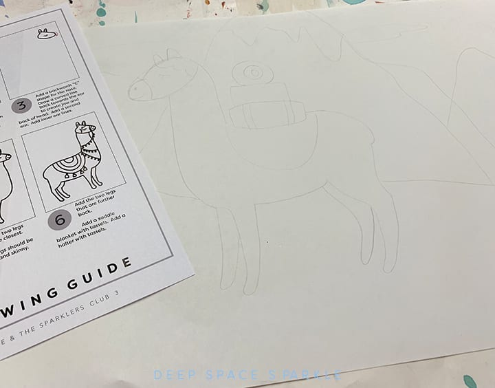 Outline of Llama drawing
