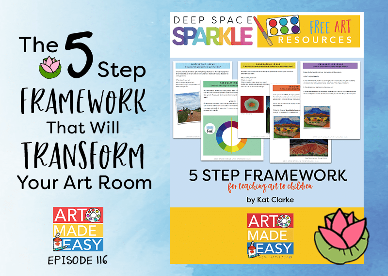 5 Step Framework for Teaching Art to Kids: Art Made Easy podcast with Patty Palmer and guest Kat Clarke