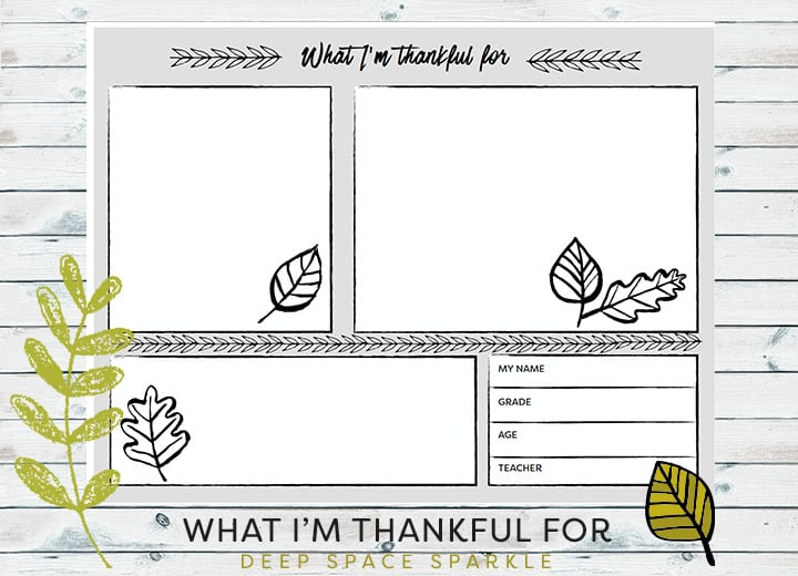 Thanksgiving Placemats Handout