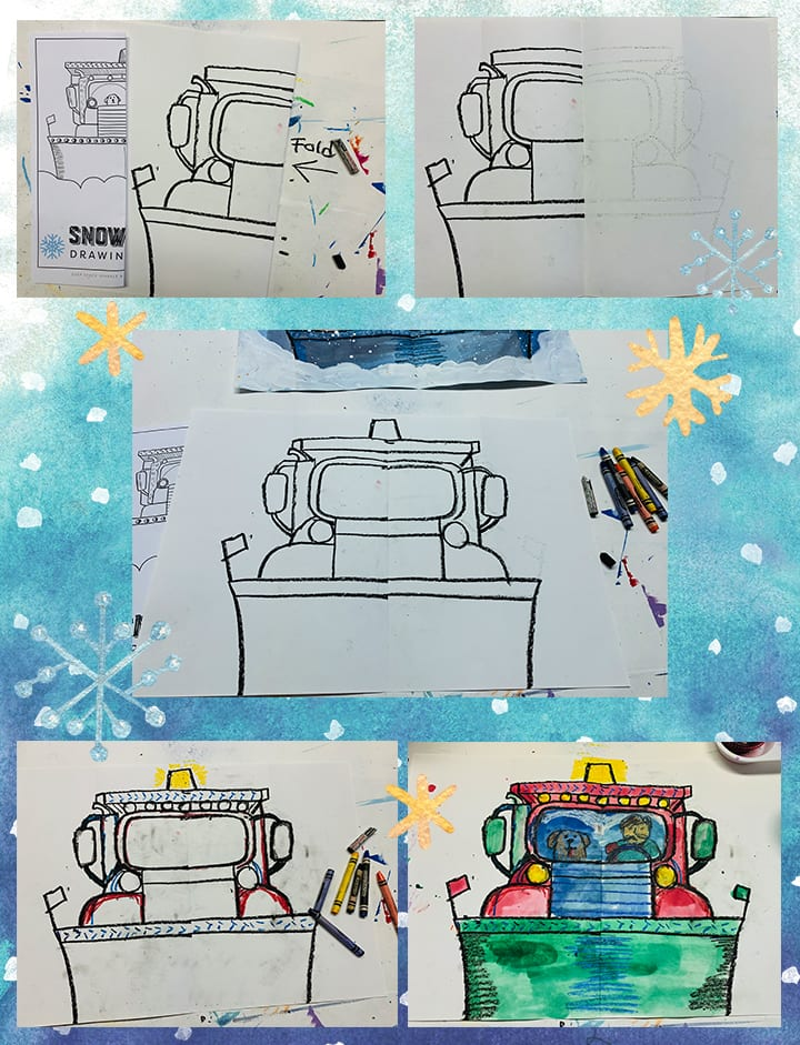 how to draw a snowplow