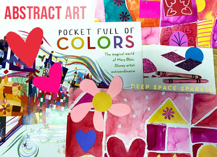 Mary Blair Abstract Valentine's Art Project