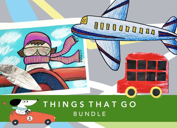 Things That Go Art Bundle inside The Sparklers Club (Deep Space Sparkle)