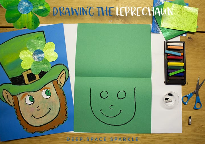 Drawing a Leprechaun step 1