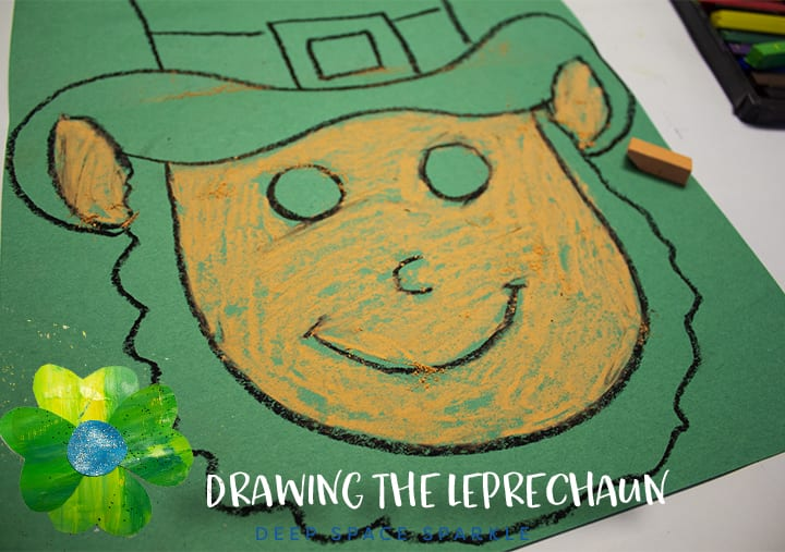 Drawing a leprechaun step 2