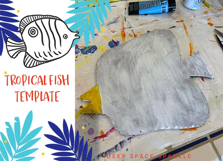 RECYCLED Tropical fish art project