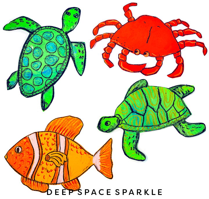 Marine animals for collaborative mural