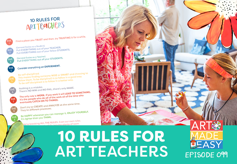 Patty Palmer and art rules for art teachers
