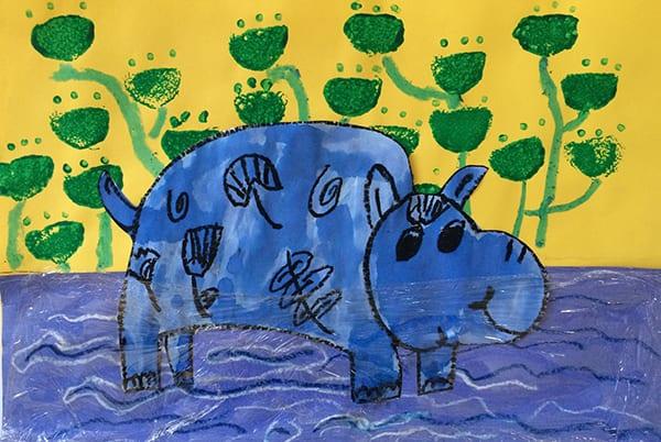 Little Blue Hippo - Egyptian Art Bundle The Sparklers Club