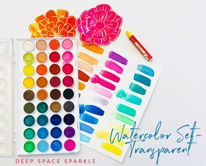 Watercolor set-transparent- top 5