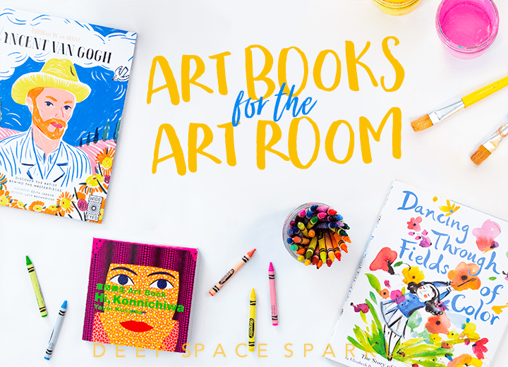 Art Books for the Art Room: A Deep Space Sparkle Picture Book Selection