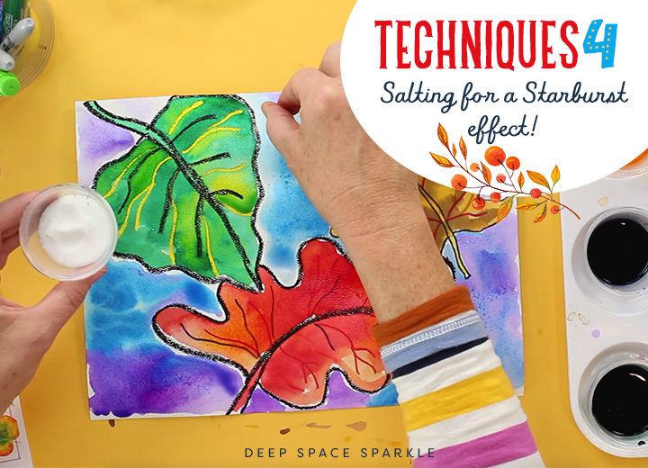 watercolor salting technique