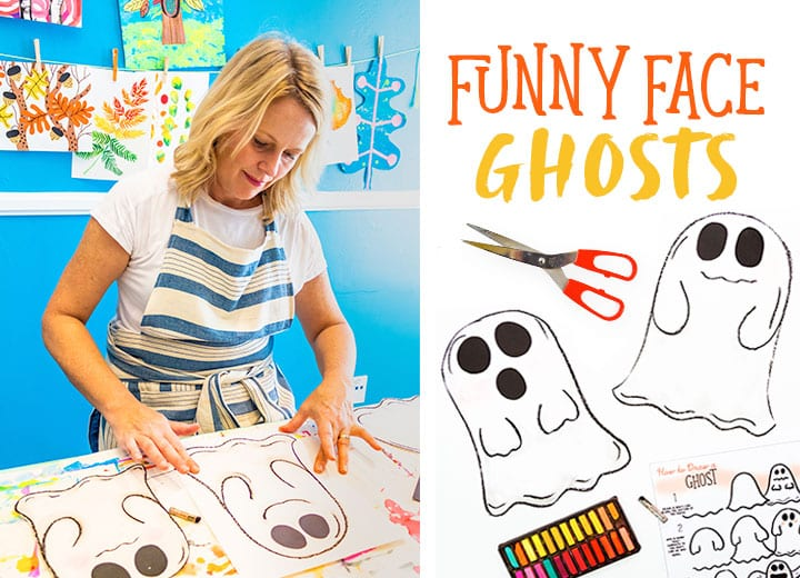 Patty Palmer of Deep Space Sparkle shows you how to draw a funny face ghost