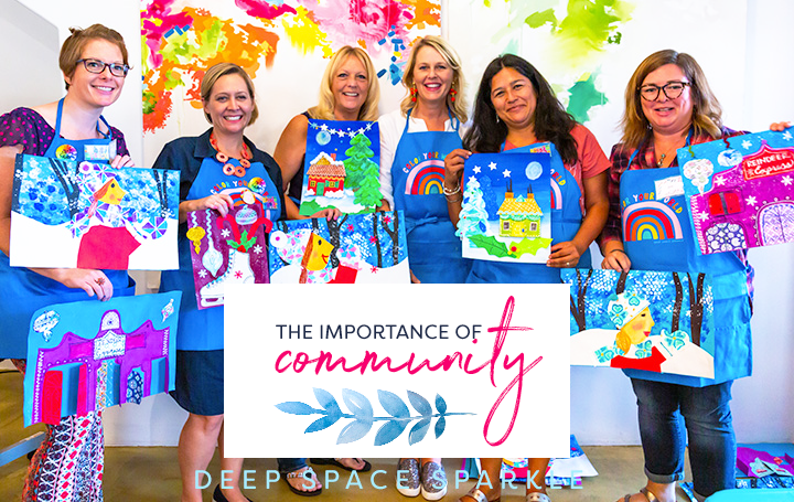 Deep Space Sparkle Art Workshop Round up: THE IMPORTANCE OF COMMUNITY