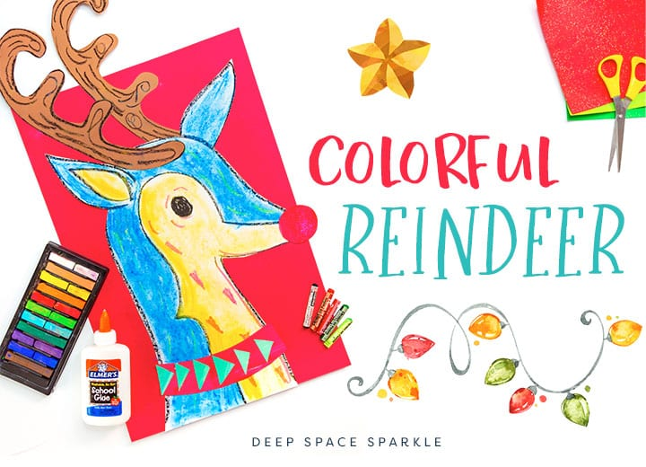 How to Draw a Holiday Reindeer: Art Project for Kids