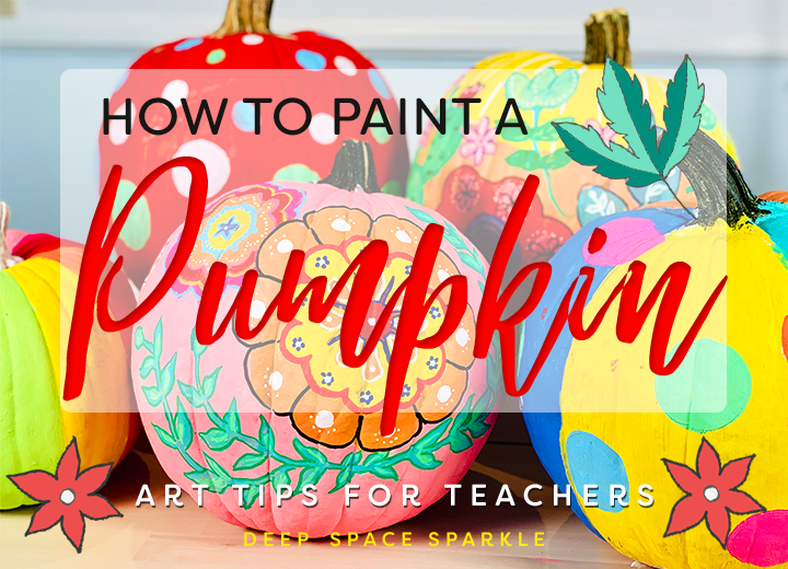 how to paint a pumpkin-Deep Space Sparkle Art Projects for Kids