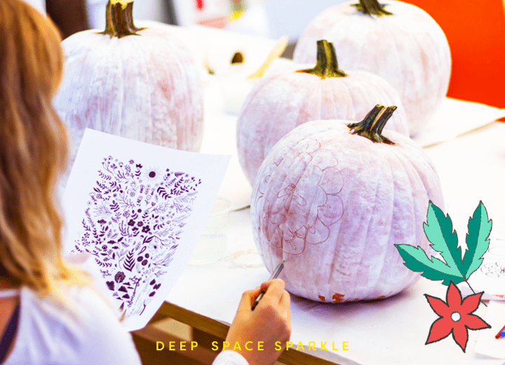 How to Paint Pumpkins: Drawing the design