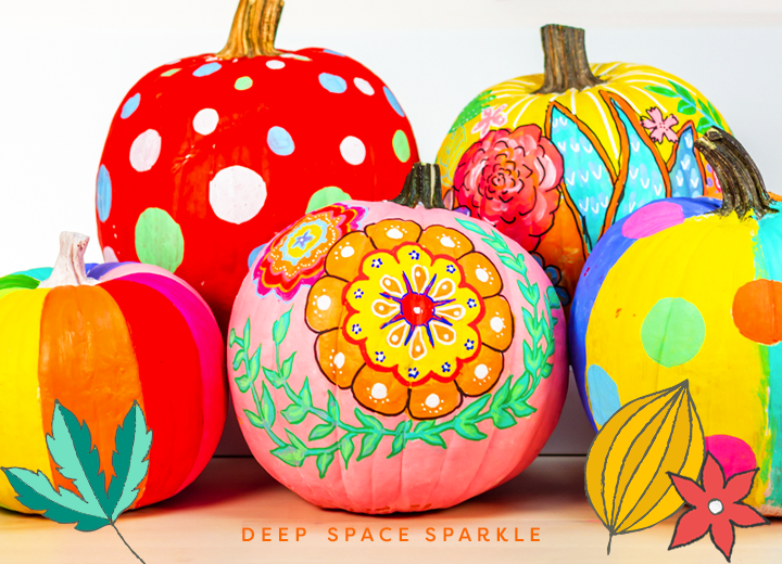 How to Paint Pumpkins: painting the design