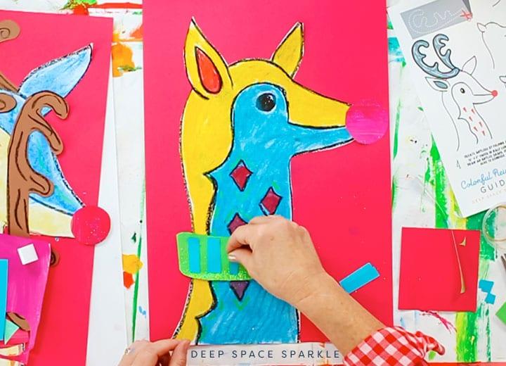 reindeer scrap paper step