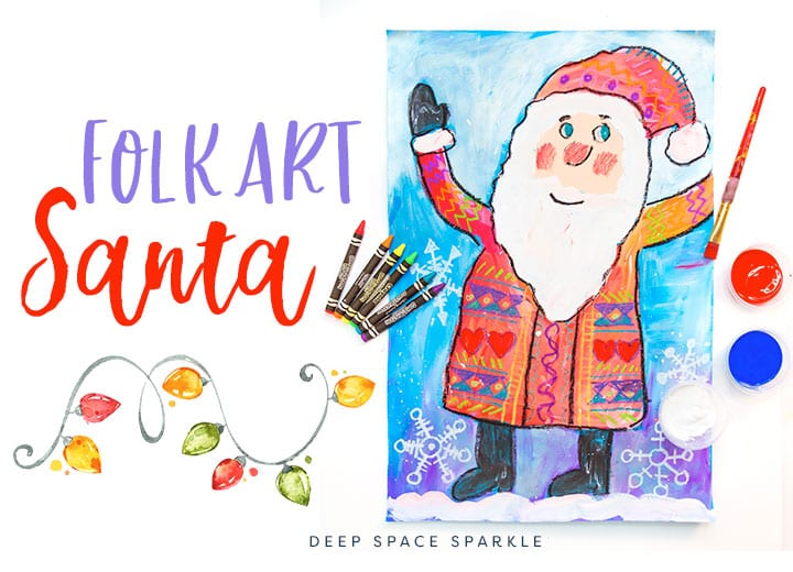 how to make a folk art santa art projects for kids