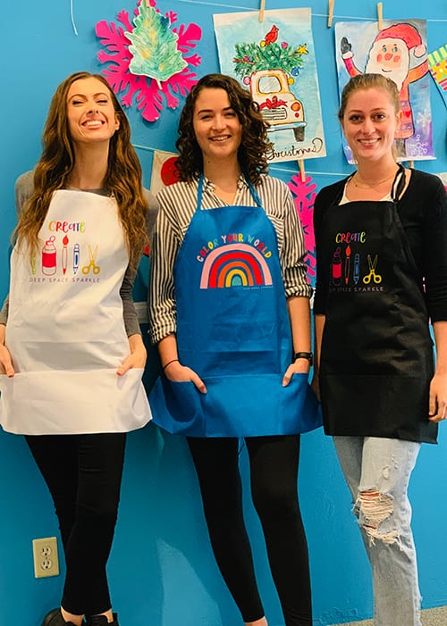 Deep Space Sparkle Art Teacher Aprons