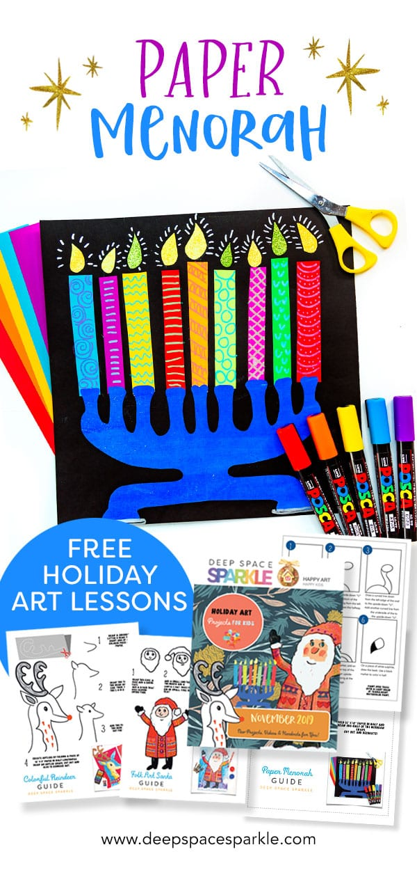 making a paper menorah step by step video tutorial