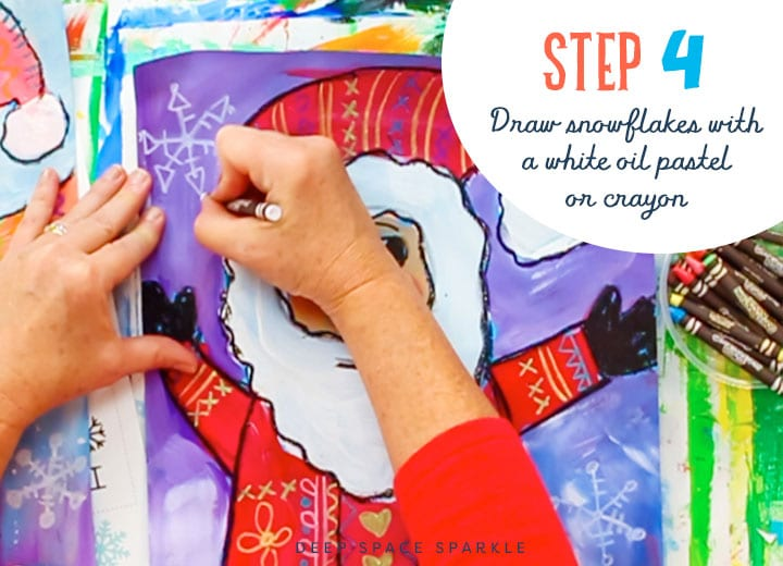 folk art santa step 4 draw the background
