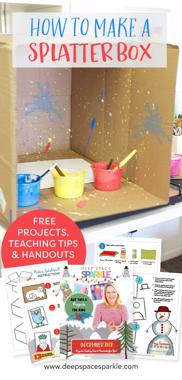 how to make your own splatter box with kids art projects in the classroom