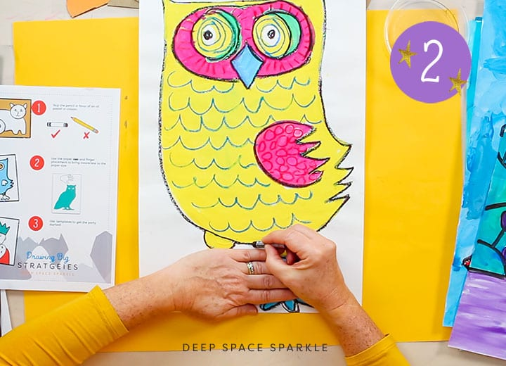 3 ways to help children draw big for their art projects