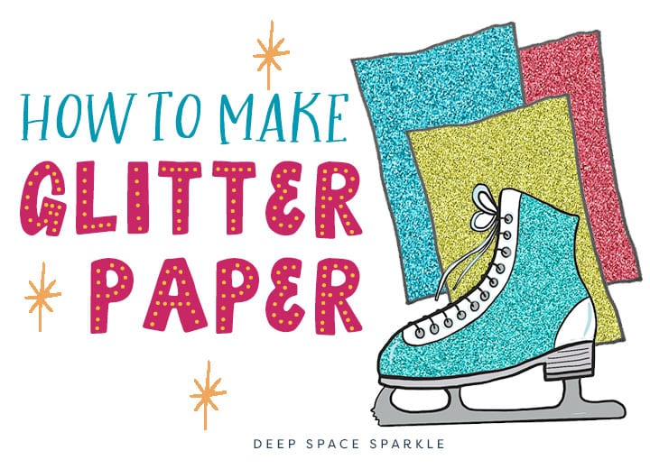 how to make your own glitter paper project for kids