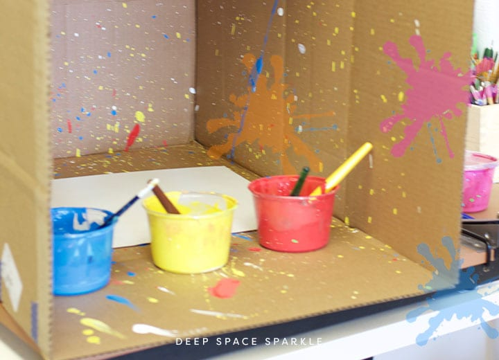 how to make you own splatter box with kids