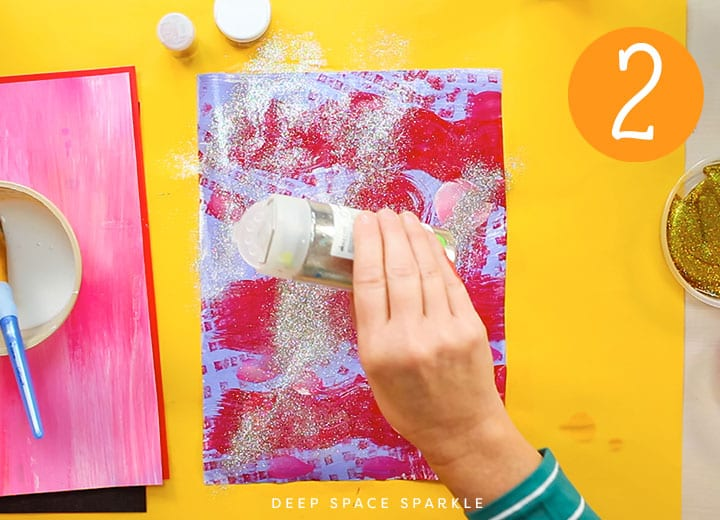 how to make your own glitter paper applying glitter to paper