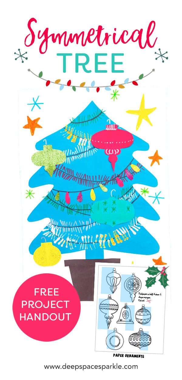 symmetrical christmas tree pin how to make projects for kids art