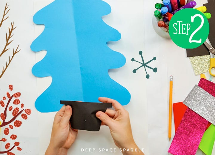 how to make a symmetrical christmas tree put pieces together