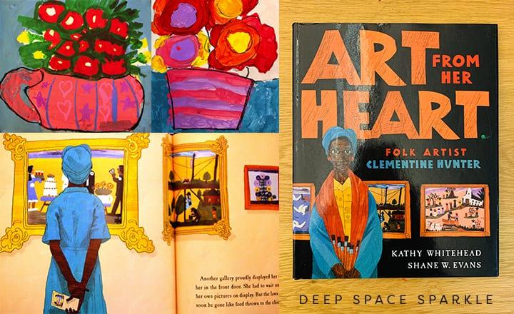 Art from her heart, folk artist Clementine Hunter- Black history month for kids
