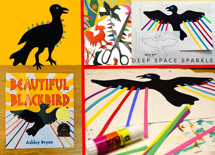 Ashley Bryant Beautiful Black Bird art lesson for kindergarten students